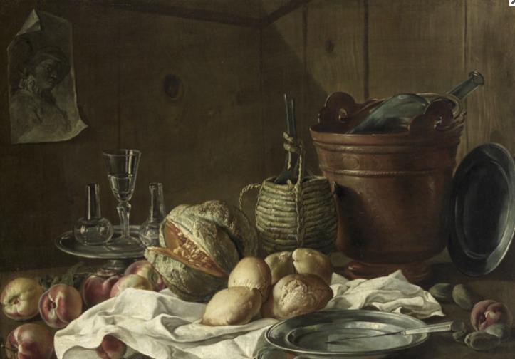 Anonimo, Natura morta con frutta 1740-1750 circa