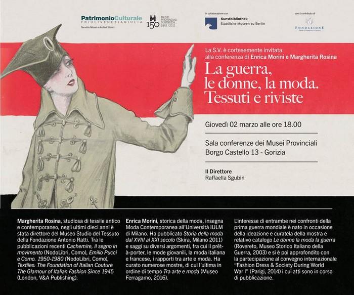 17272051b65a Margherita Rosina ed Enrica Morini, storiche del tessile e della moda  saranno le protagoniste della conferenza