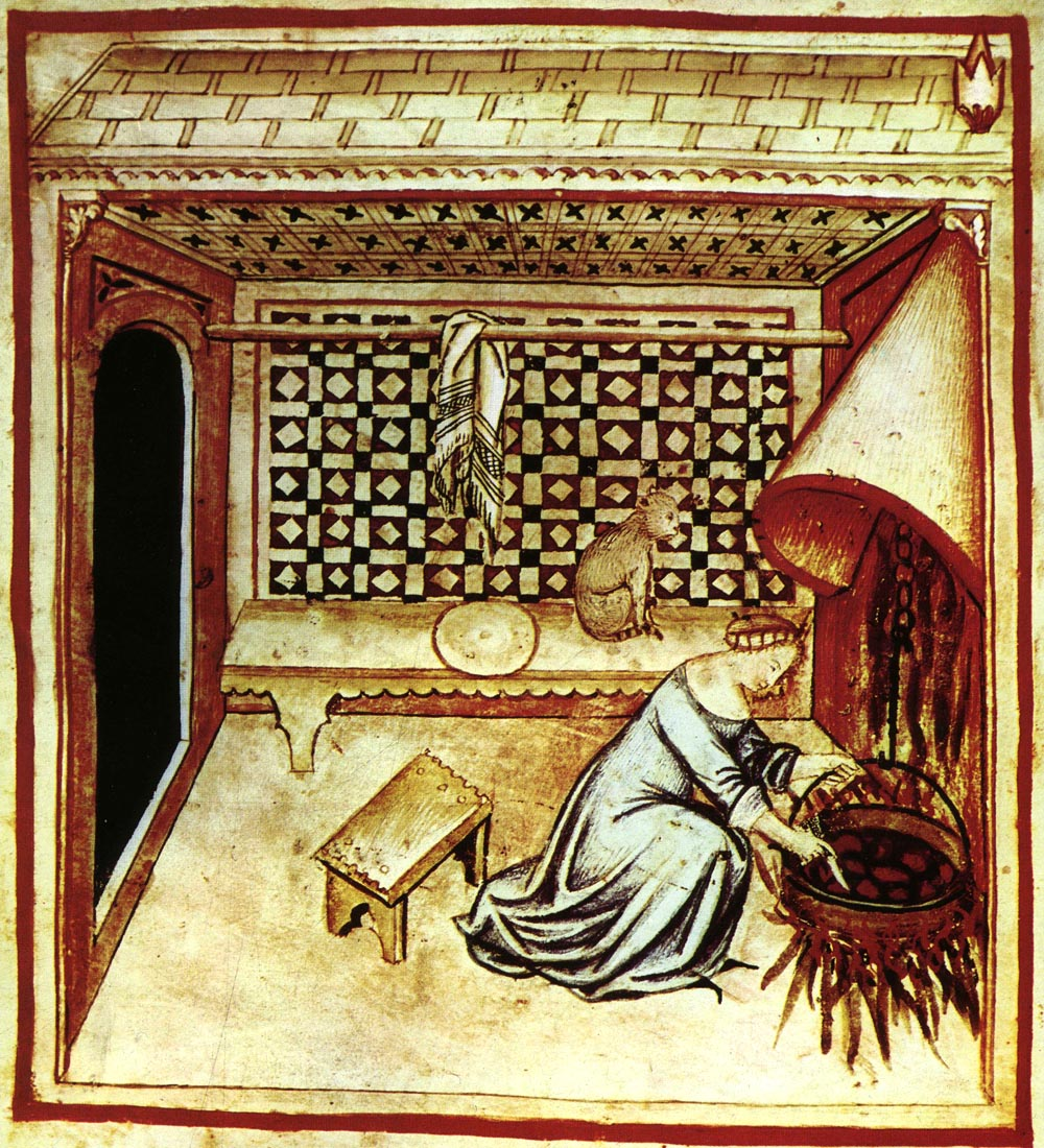 medieval woman cooking