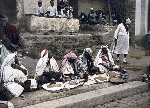 Couscous sellers Tunisia