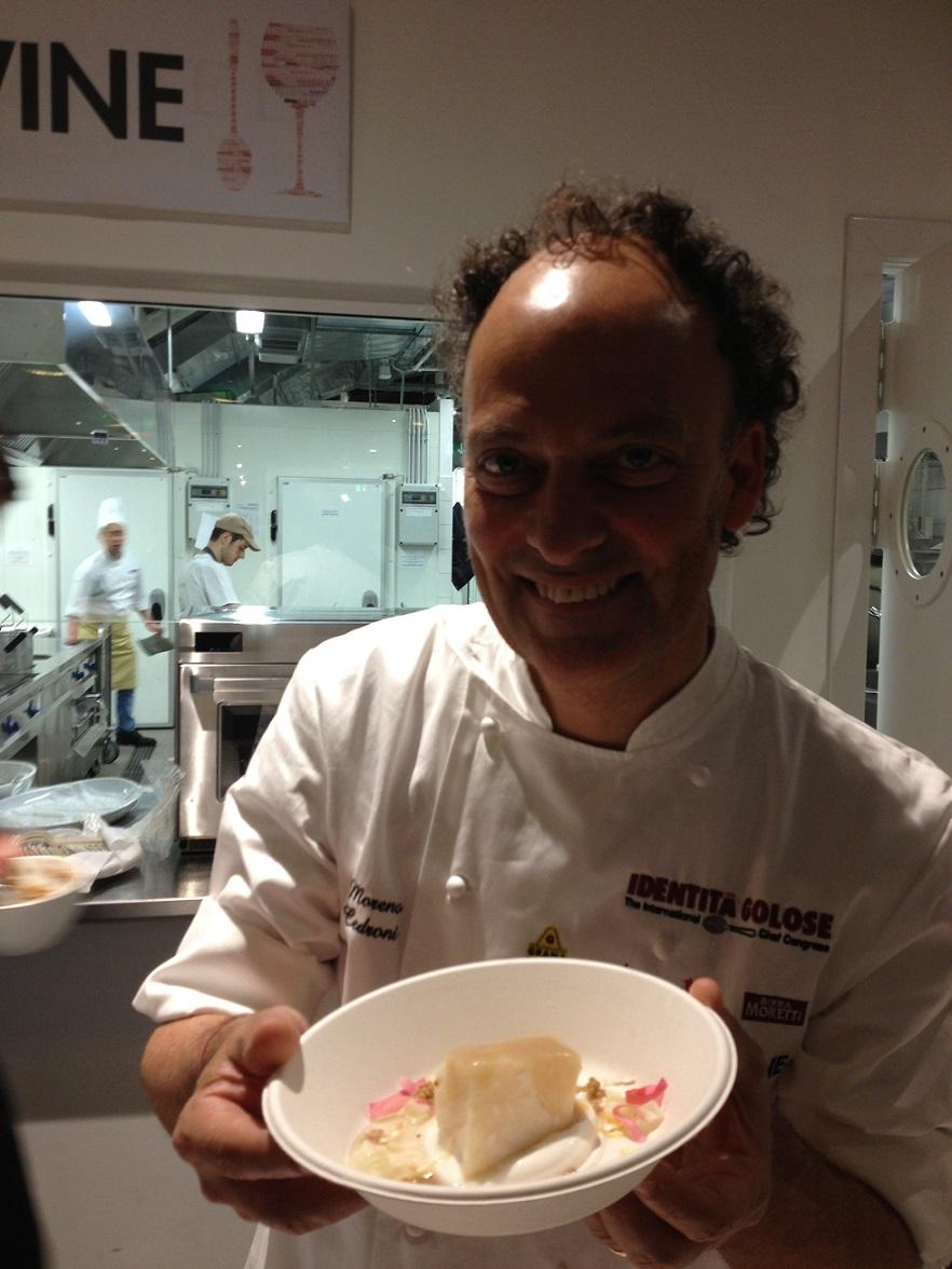 Moreno cedroni baccal con salsa di cardamomo rosa e - A tavola con lo chef ...